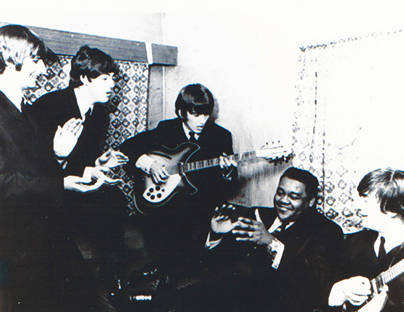 Fats Domino with The Beatles in 1964