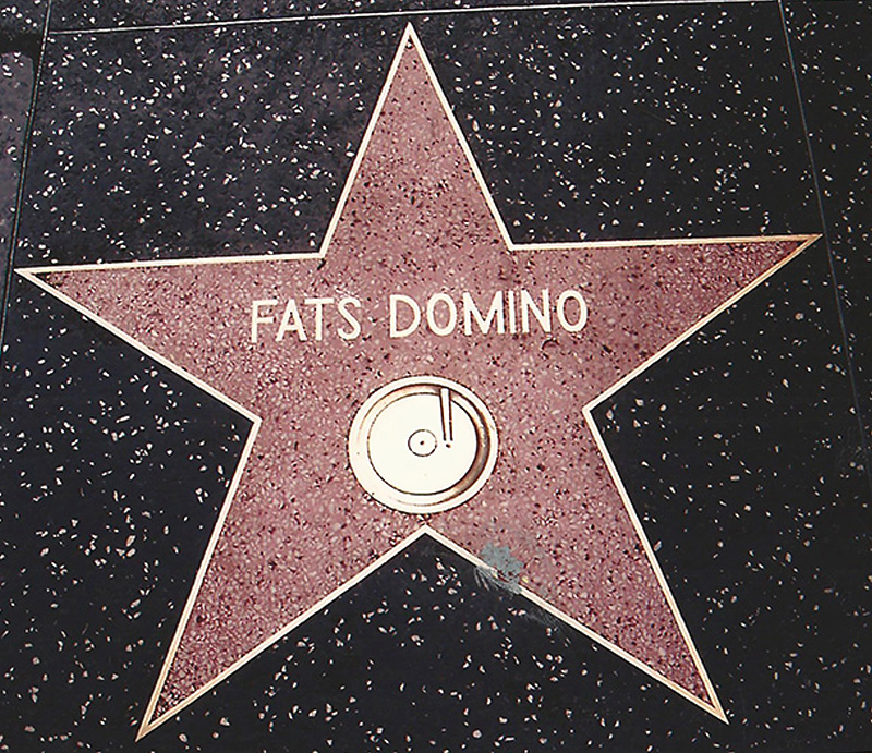 Fats Domino's star on the Hollywood Walk of Fame