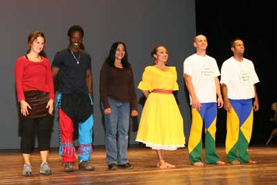 The professional dancers from the Connecticut Ballet were greeted with a standing ovation at the end of their performance. They are (from l.) Jori Ketten, Issa Coulibaly, Rachna Agrawal, Edith Ortiz, Guilherme Torres and Beto Da Silva.