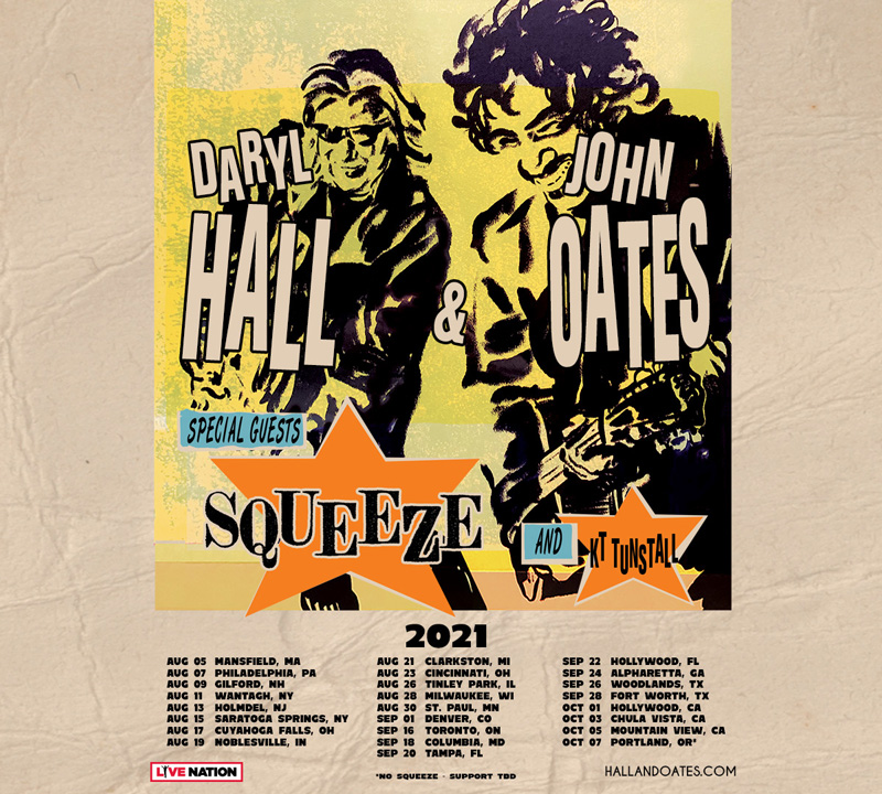 Daryl Hall & John Oates 2021 Tour - View Dates