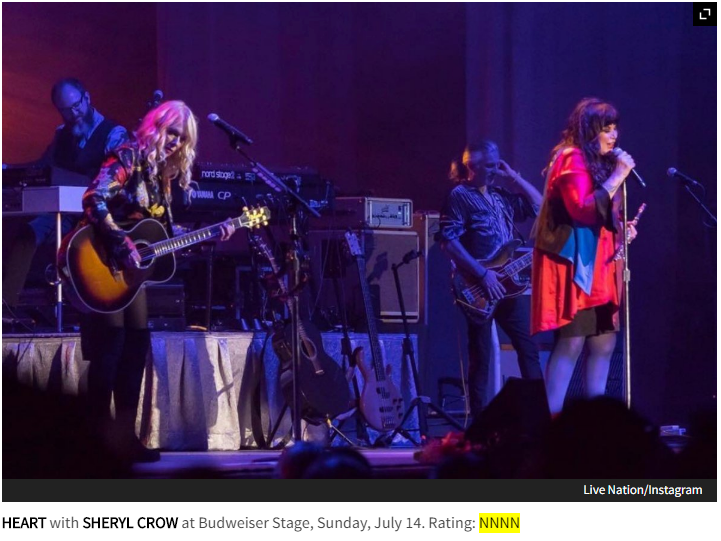 Heart brought raunchy and raw rock to Budweiser Stage (Now Toronto Review)