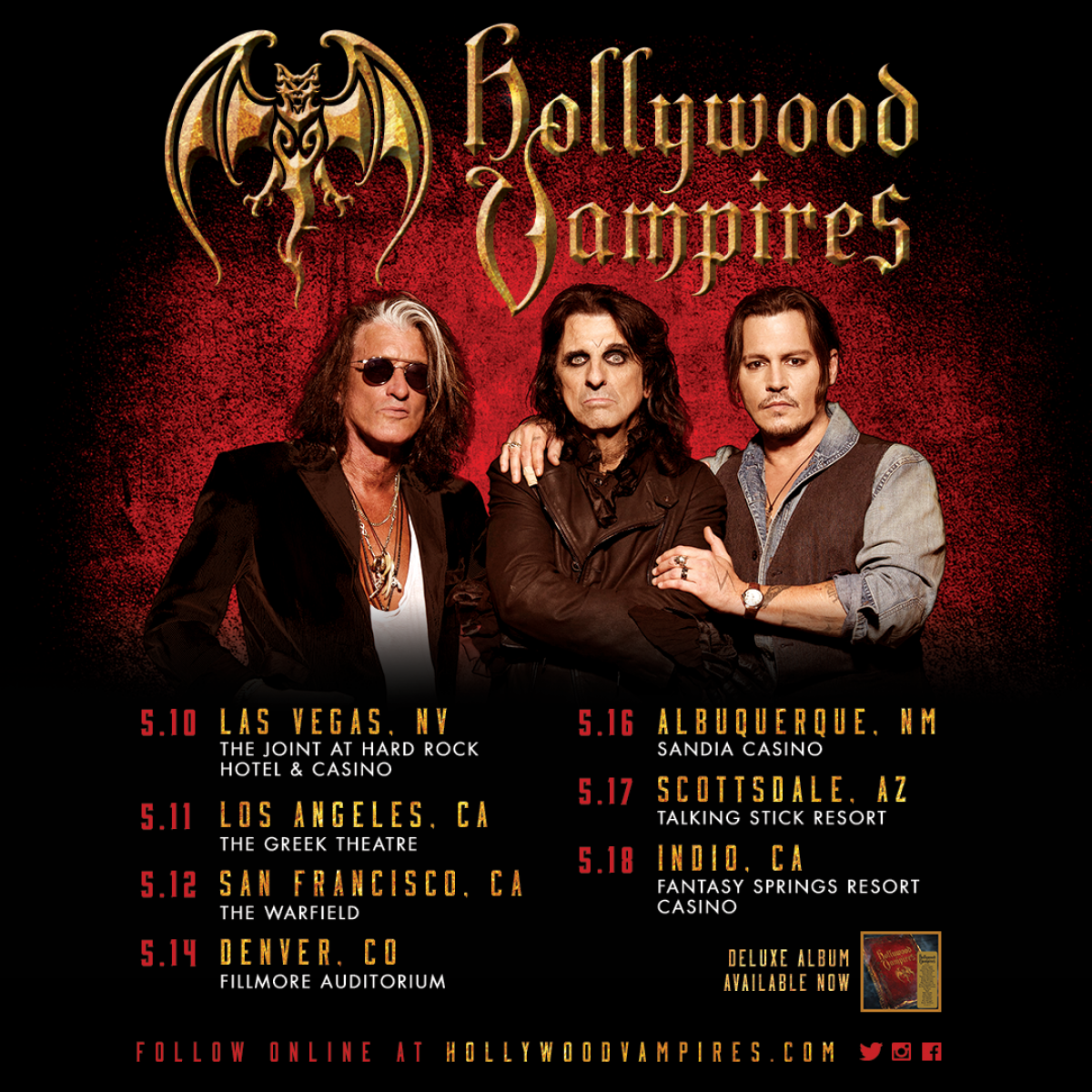 Hollywood Vampires Tour 2020 Hollywood Vampires | News