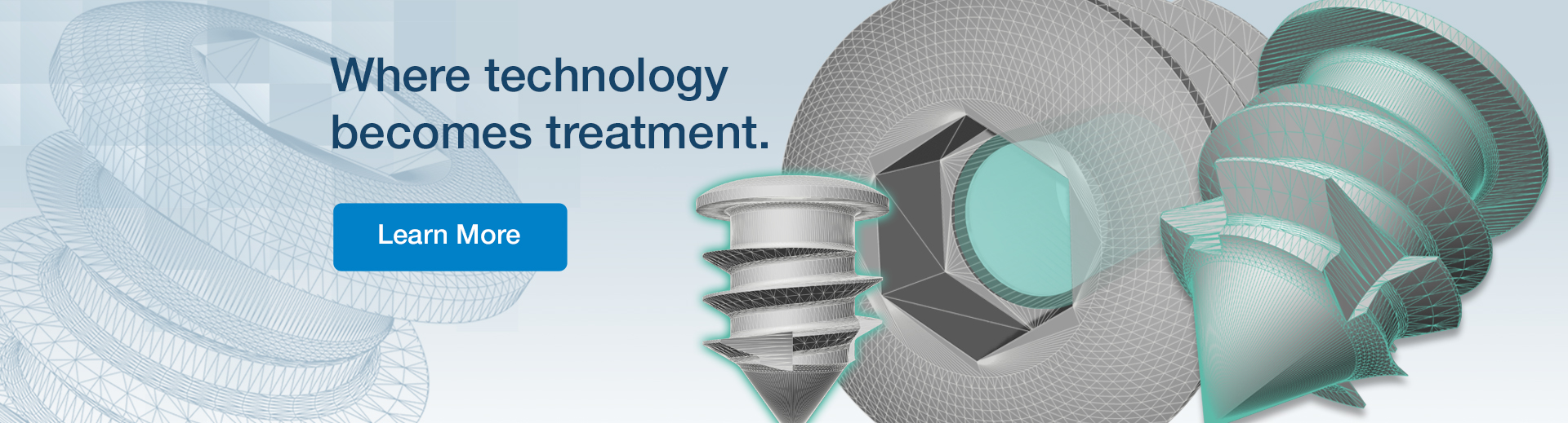 Special screws and text: where technology becomes treatment. Click to learn more about Releave Drug Delivery Device