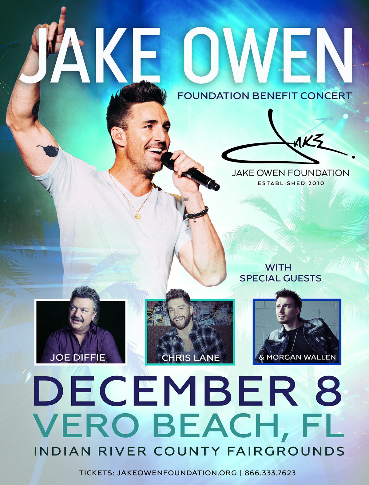 12TH ANNUAL JAKE OWEN FOUNDATION BENEFIT CONCERT ANNOUNCED