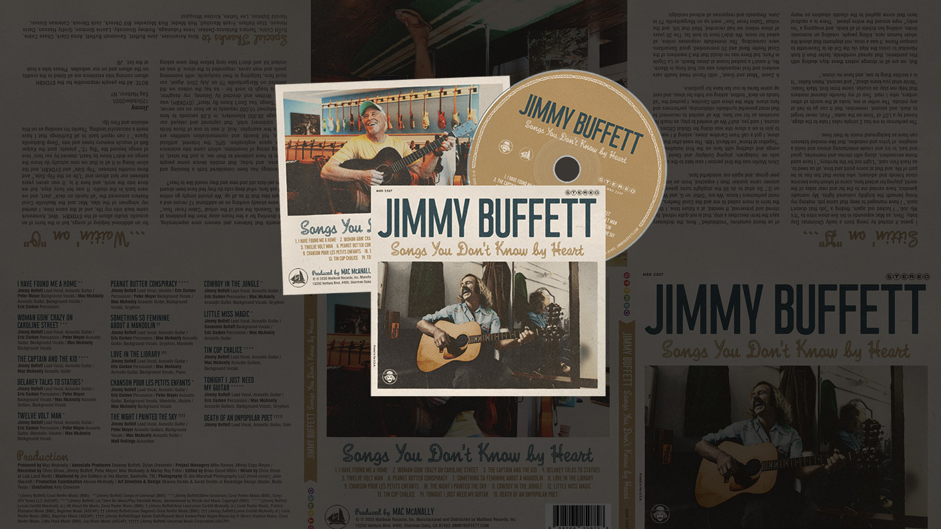 Songs You Don't Know By Heart The new CD by Jimmy Buffett is now available.