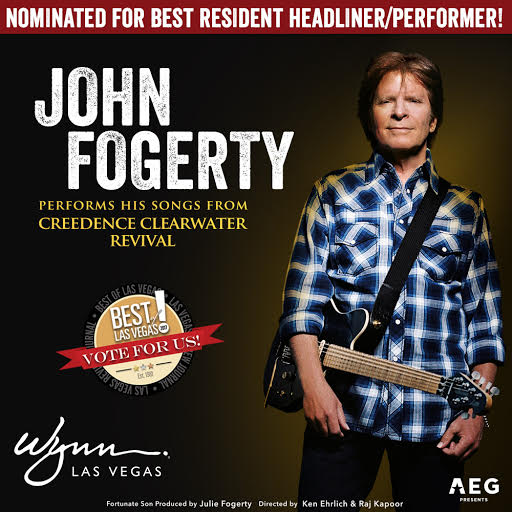 John Fogerty nominated for Las Vegas Best Resident Headliner/Performer