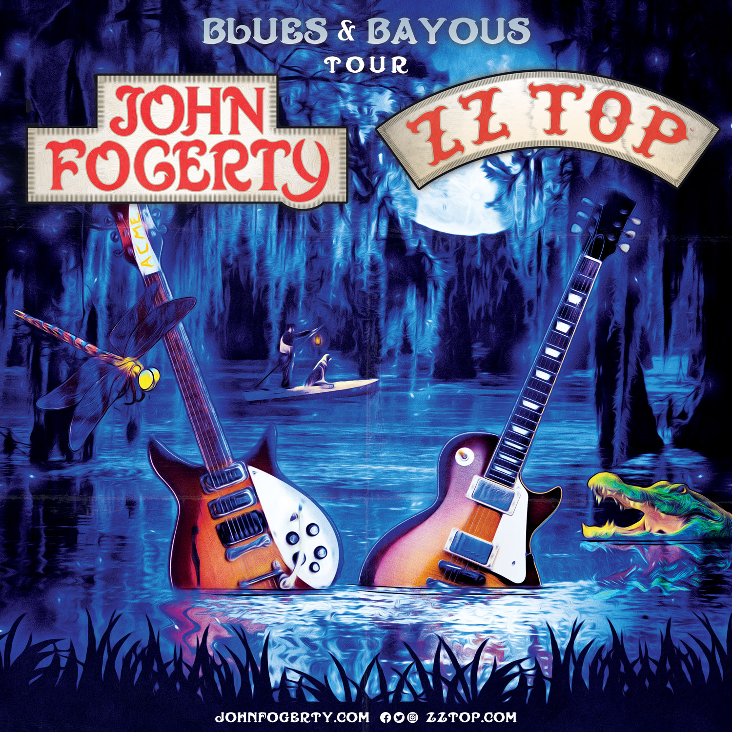 "JOHN FOGERTY AND ZZ TOP ANNOUNCE ""BLUES AND BAYOUS TOUR"""