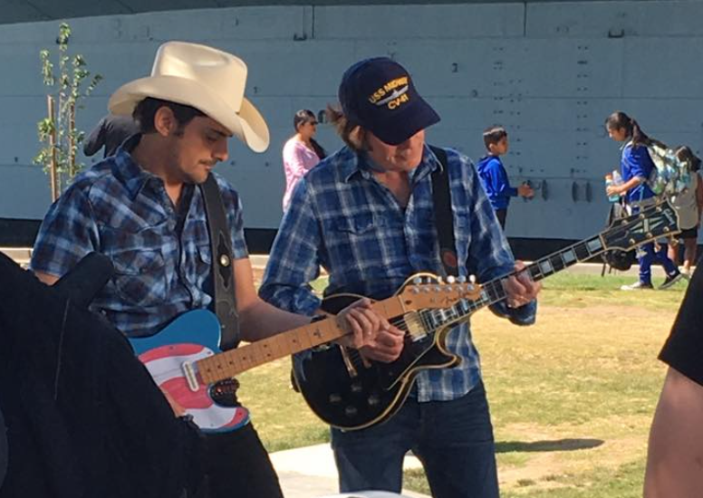 Country star Brad Paisley shoots music video in San Diego with John Fogerty