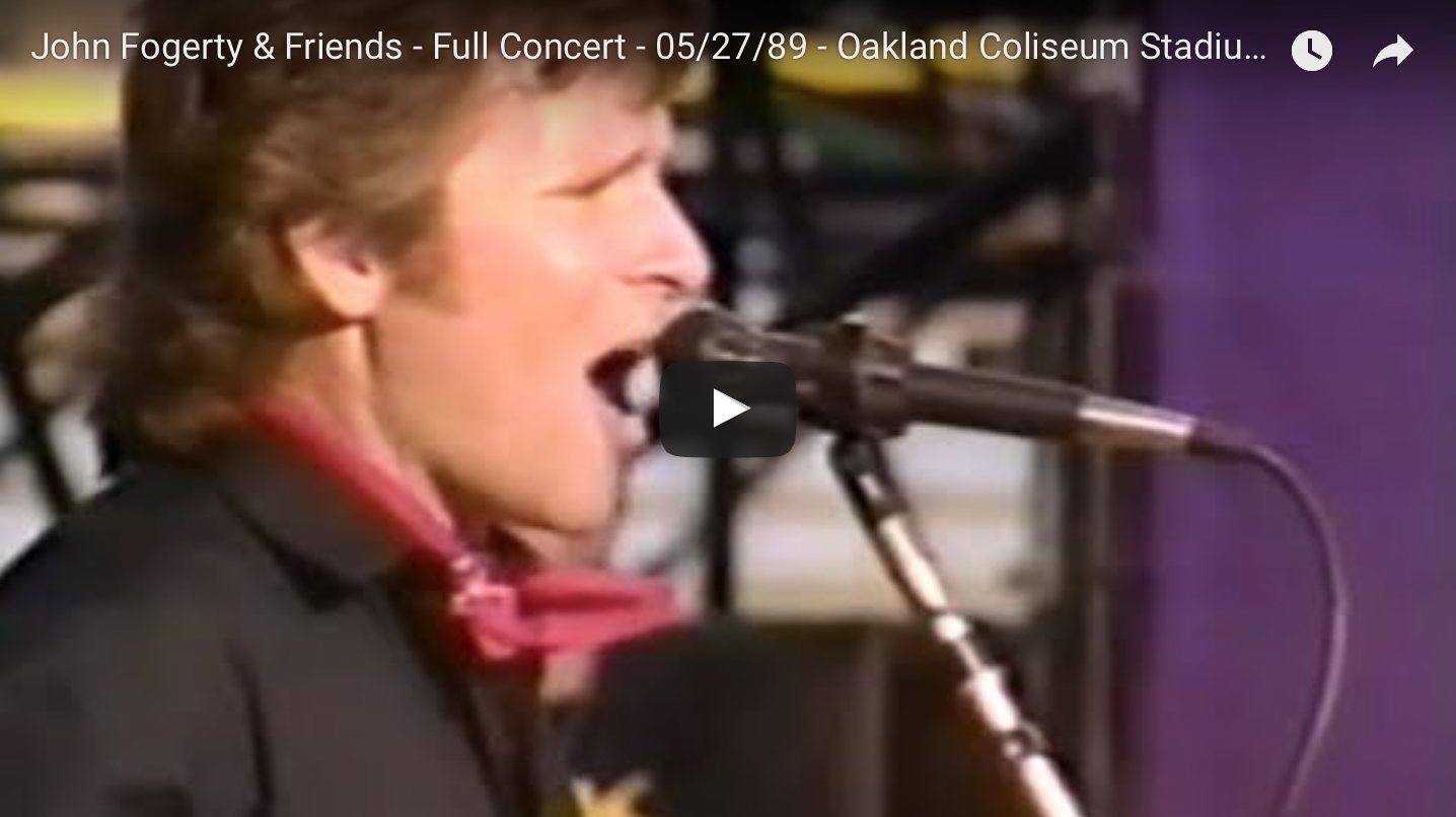 John Fogerty has famous backers in Oakland (1989)