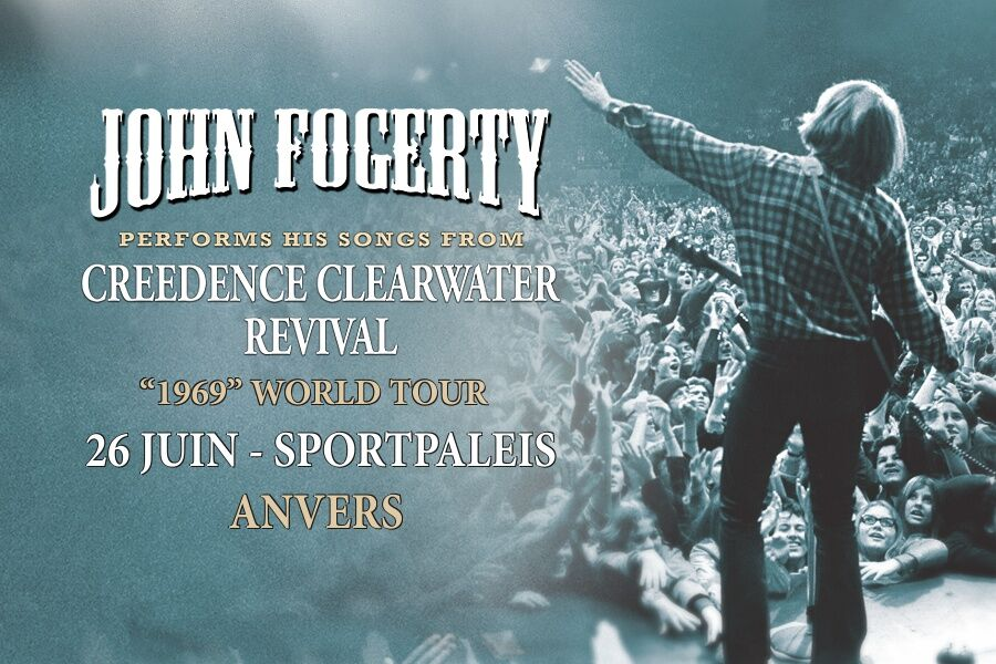 Due to overwhelming demand, the John Fogerty concert in Antwerp on 6/26 has been moved to the Sportpaleis