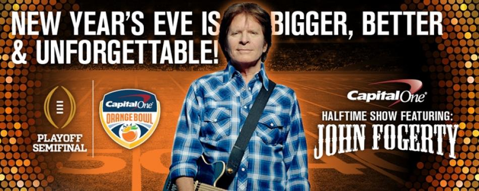 ROCK LEGEND JOHN FOGERTY TO HEADLINE 2015 PLAYOFF SEMIFINAL AT THE CAPITAL ONE ORANGE BOWL HALFTIME SHOW