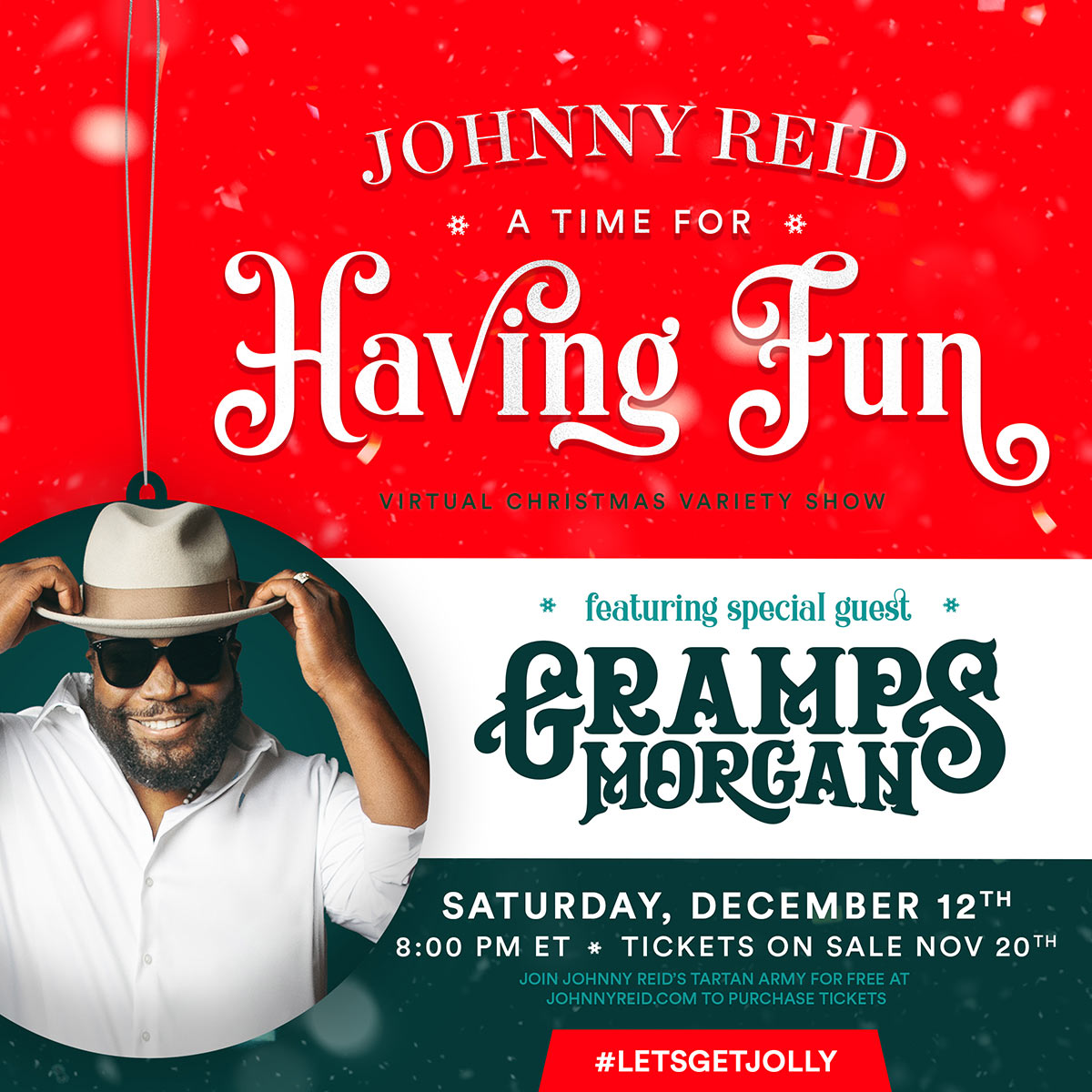 Grammy Award Winner Gramps Morgan Announced as Special Guest on A Time For Having Fun Virtual Christmas Variety Show