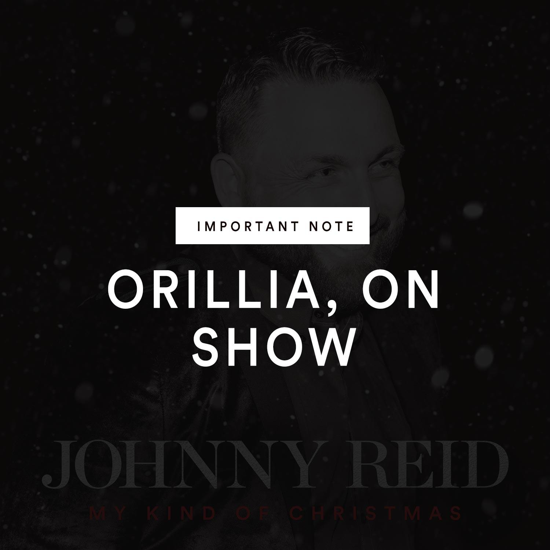 Important Note Regarding Casino Rama/Orillia Show