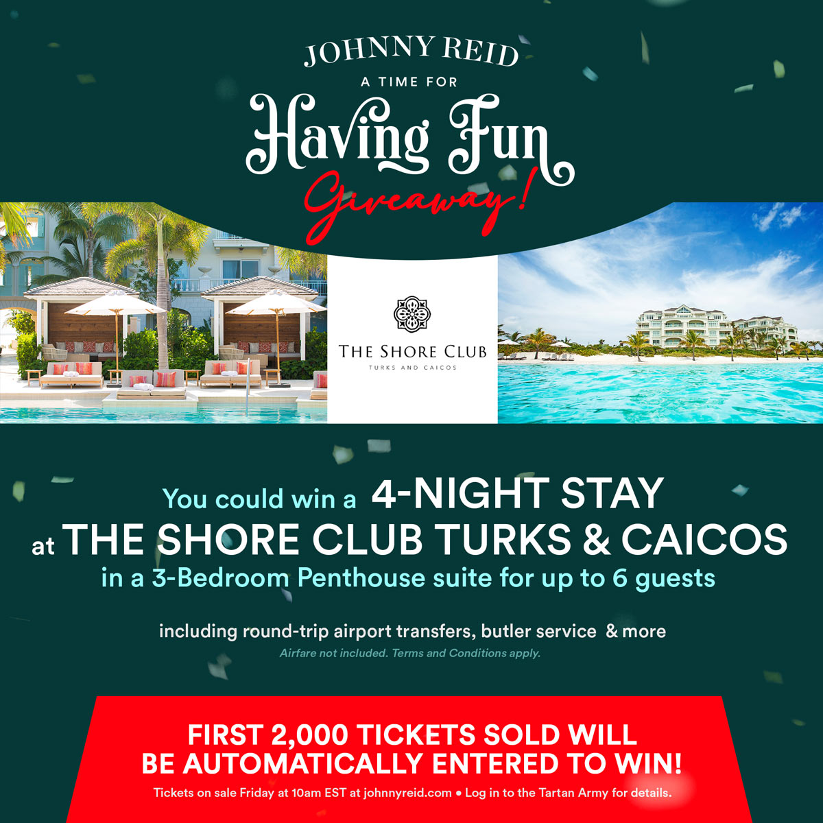 Giveaway Alert: You could win a 4-night stay at The Shore Club Turks & Caicos