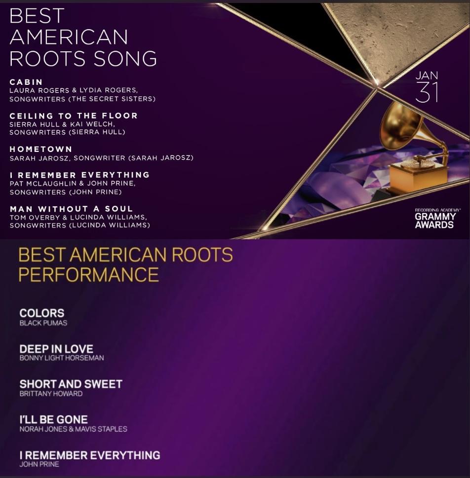 John Prine 2021 Grammy Nominations