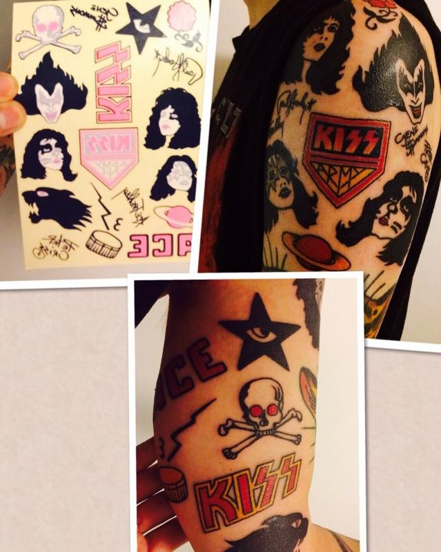 0546d0cfdcdf2 Fan's KISS Alive II Temp tattoos now permanent!