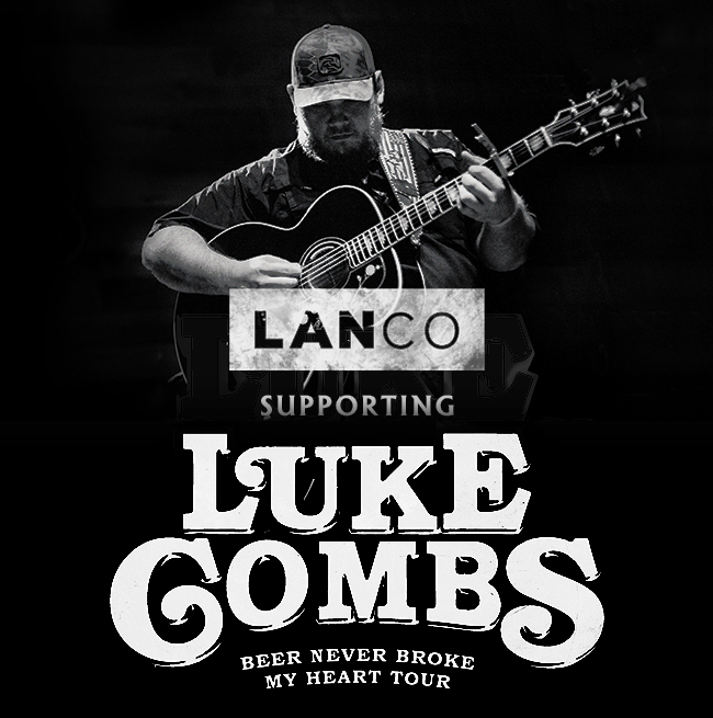 LANCO supporting Luke Combs' Beer Never Broke My Heart Tour