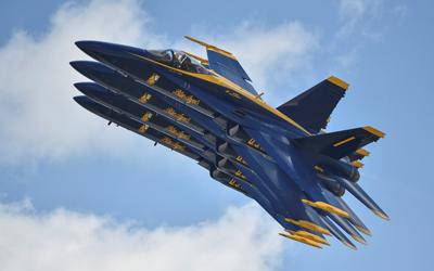 Blue Angels flying