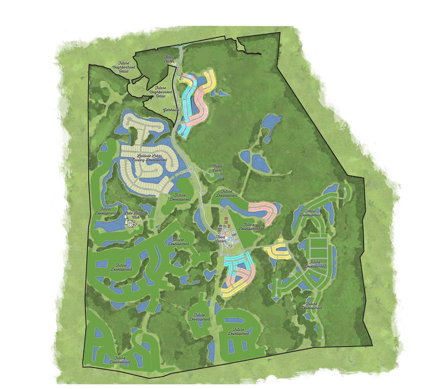Latitude Margaritaville Hilton Head Plan with areas of community current homesite release and interest