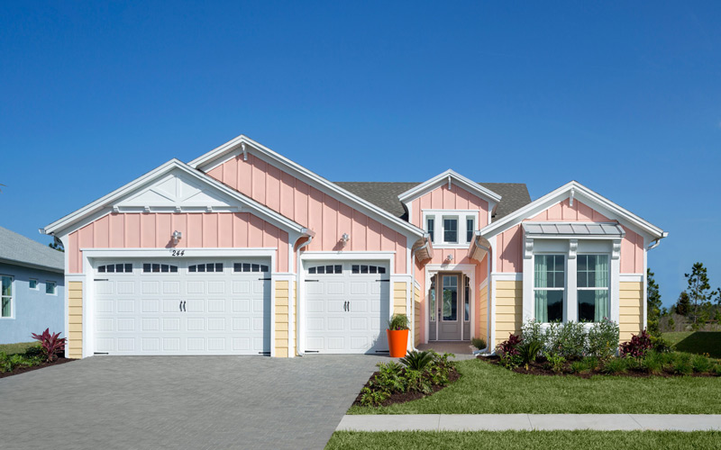 One of our model homes in tne new Daytona Beach Latitude Margaritaville community