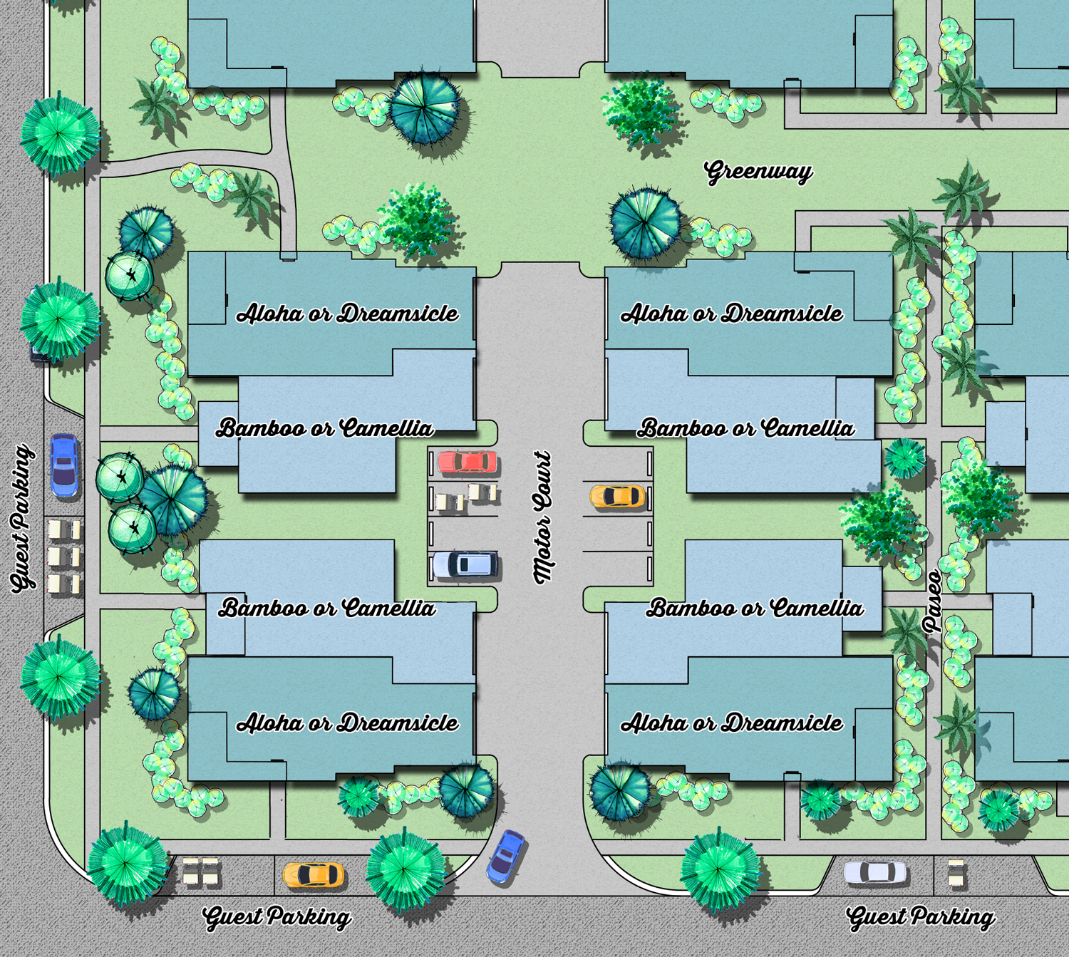 Latitude Margaritaville Conch Cottage layout rendering