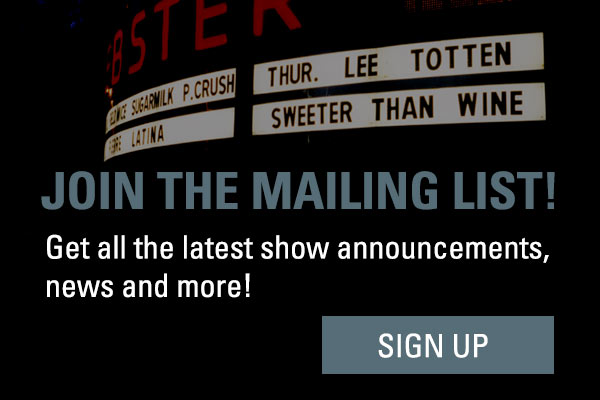 Singer/Songwriter Lee Totten Mailing List