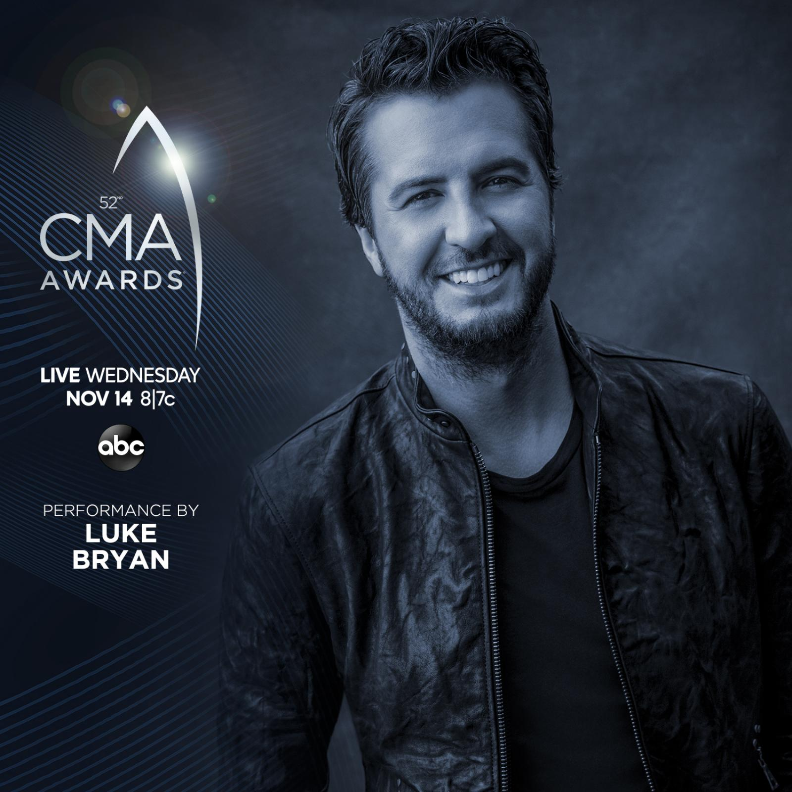 Luke Slated To Perform At 52nd CMA Awards!