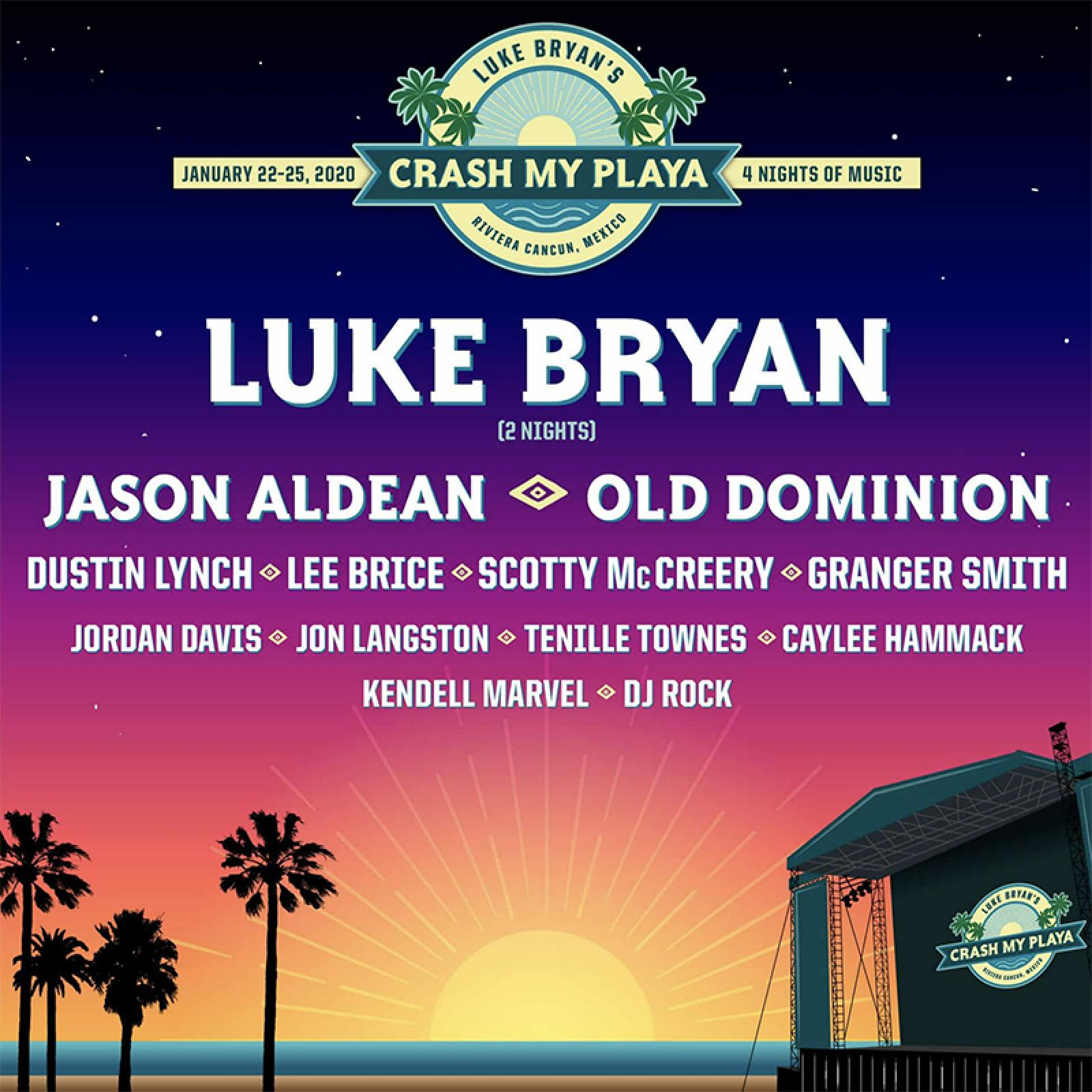 Luke's Sold-Out CRASH MY PLAYA 2020 Announces Final Talent Line Up