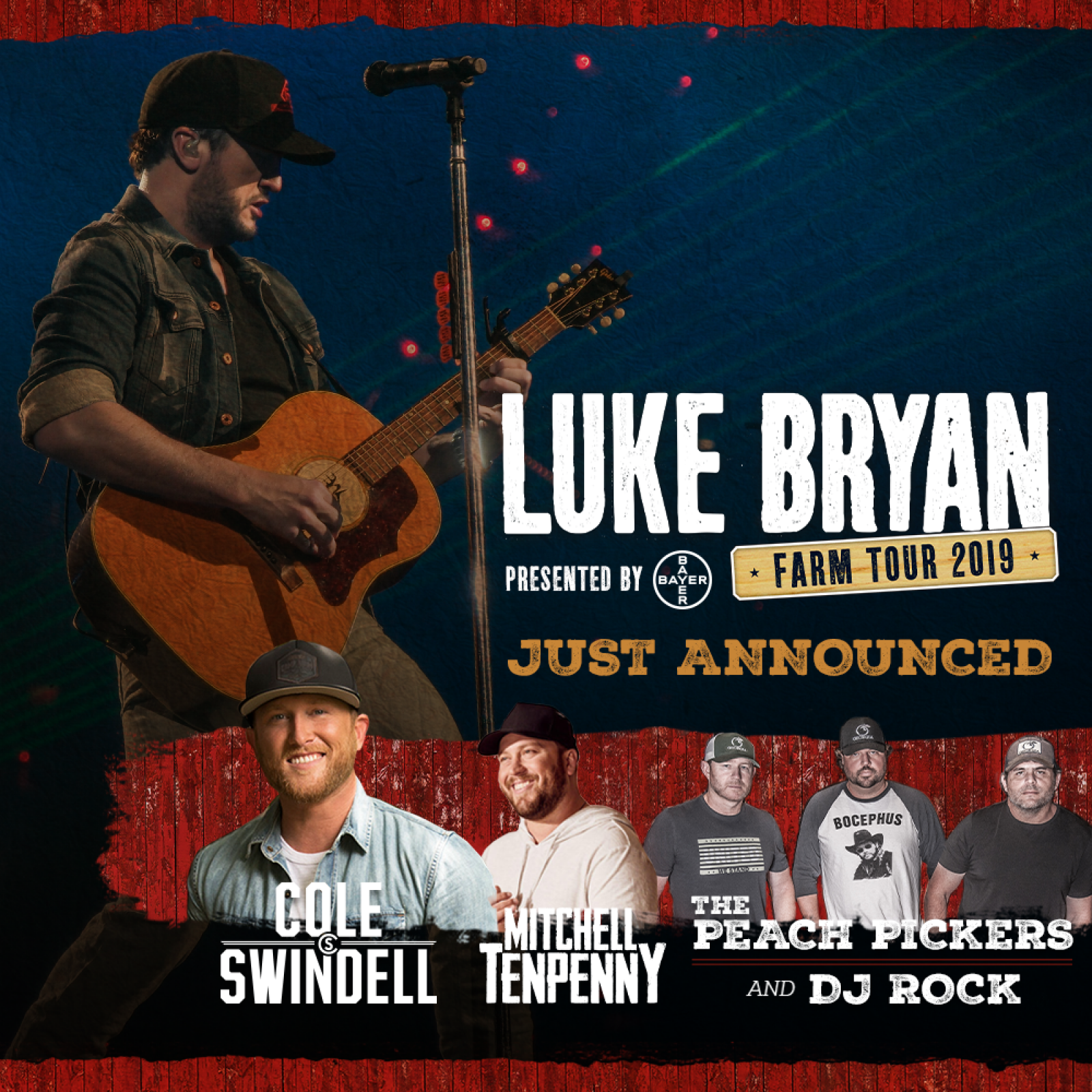 Luke Announces Line-Up for FARM TOUR 2019