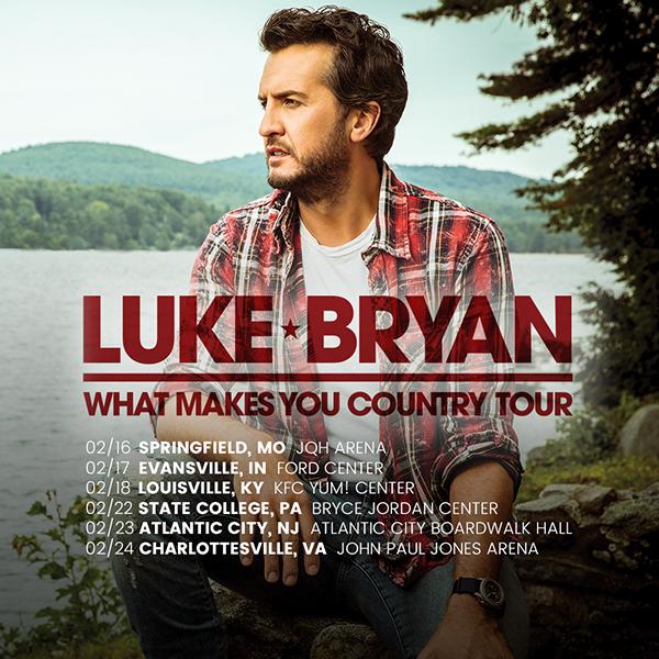Luke Bryan Song List For Tour