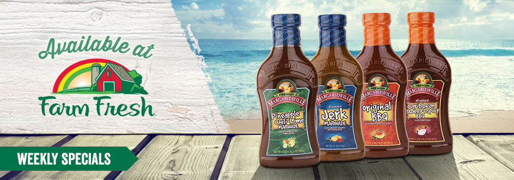 Margaritaville Foods available at Farm Fresh