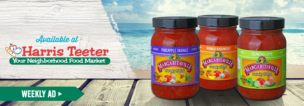 Margaritaville Foods available at Harris Teeter