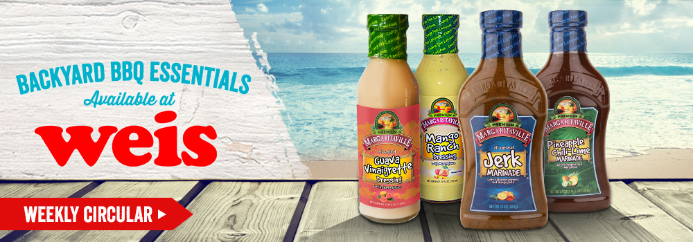 Margaritaville Foods available at Weis