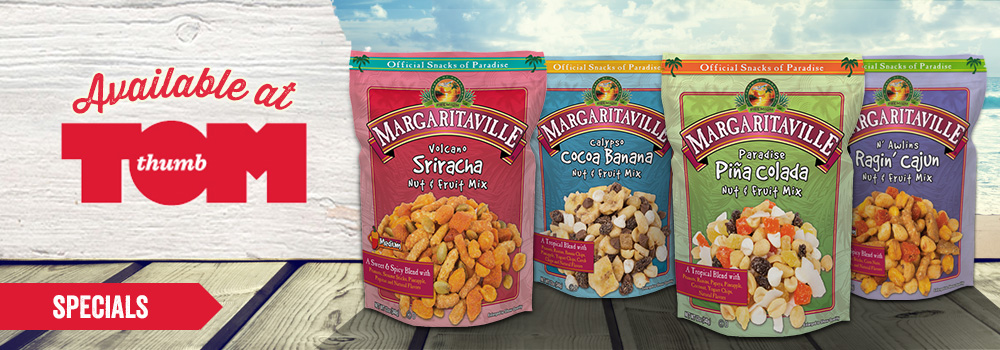 Margaritaville Foods Available at Tom Thumb
