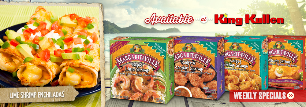 Margaritaville Foods available at King Kullen