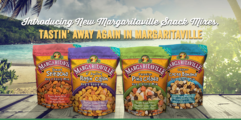 New Margaritaville Snack Mixes