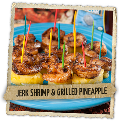 Jerk Shrimp and Grilled Pineapple