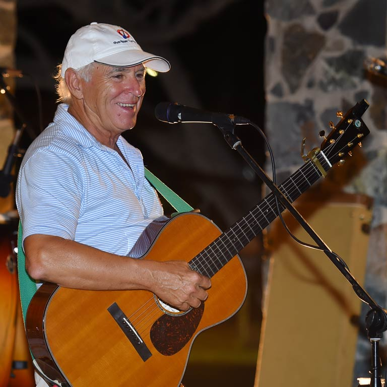 Jimmy Buffett performing at Wyndham St. Thomas.