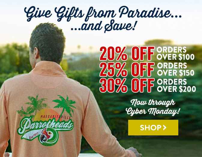 Save up to 30% on orders from the Margaritaville Store!