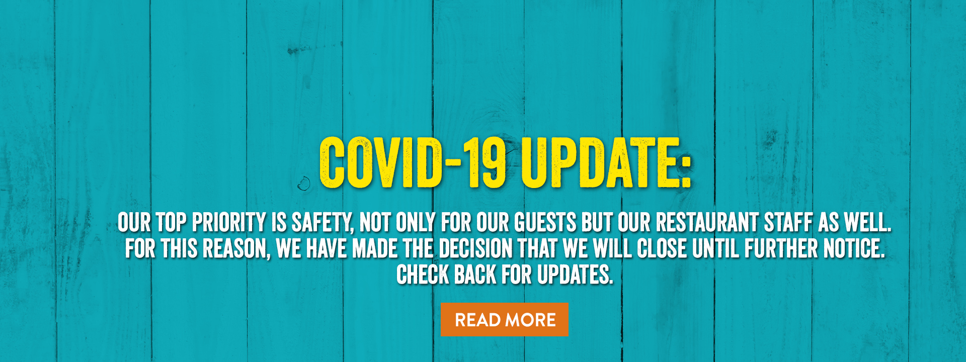 Covid-19 Update - Read More