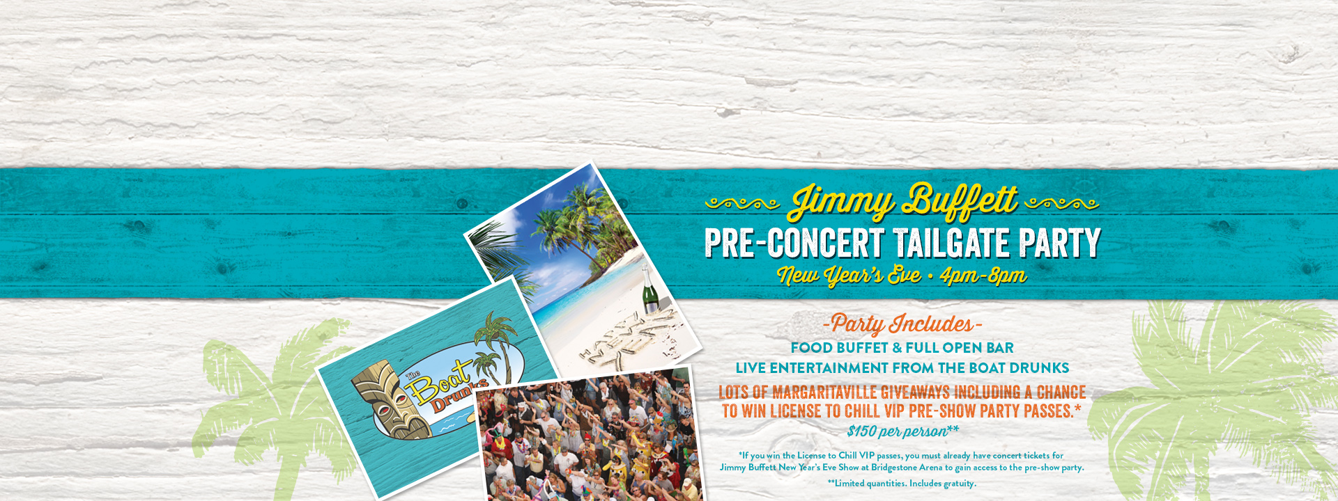 Jimmy Buffett Pre-Concert Tailgate Party