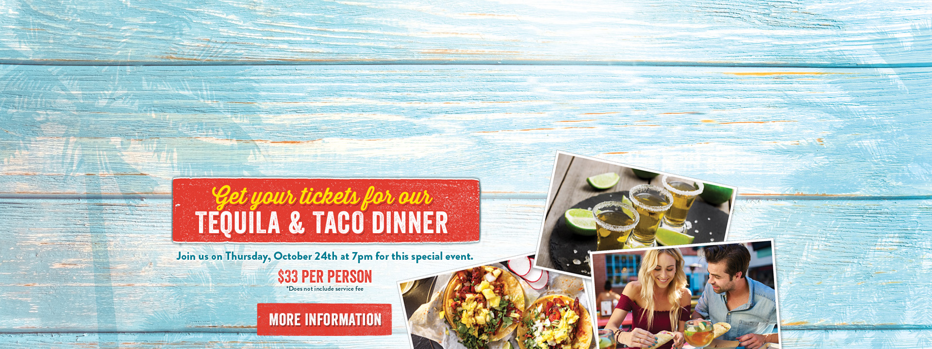Get your tickets for our tequila & taco dinner