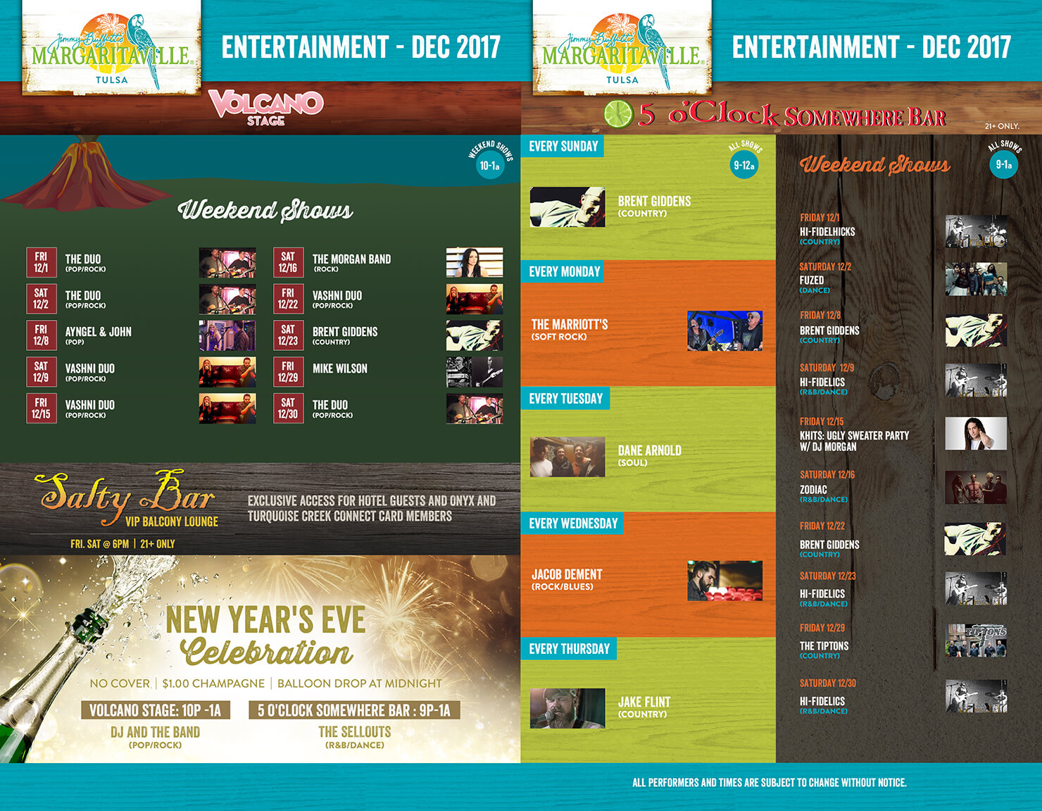 Margaritaville Tulsa October Calendar of Events