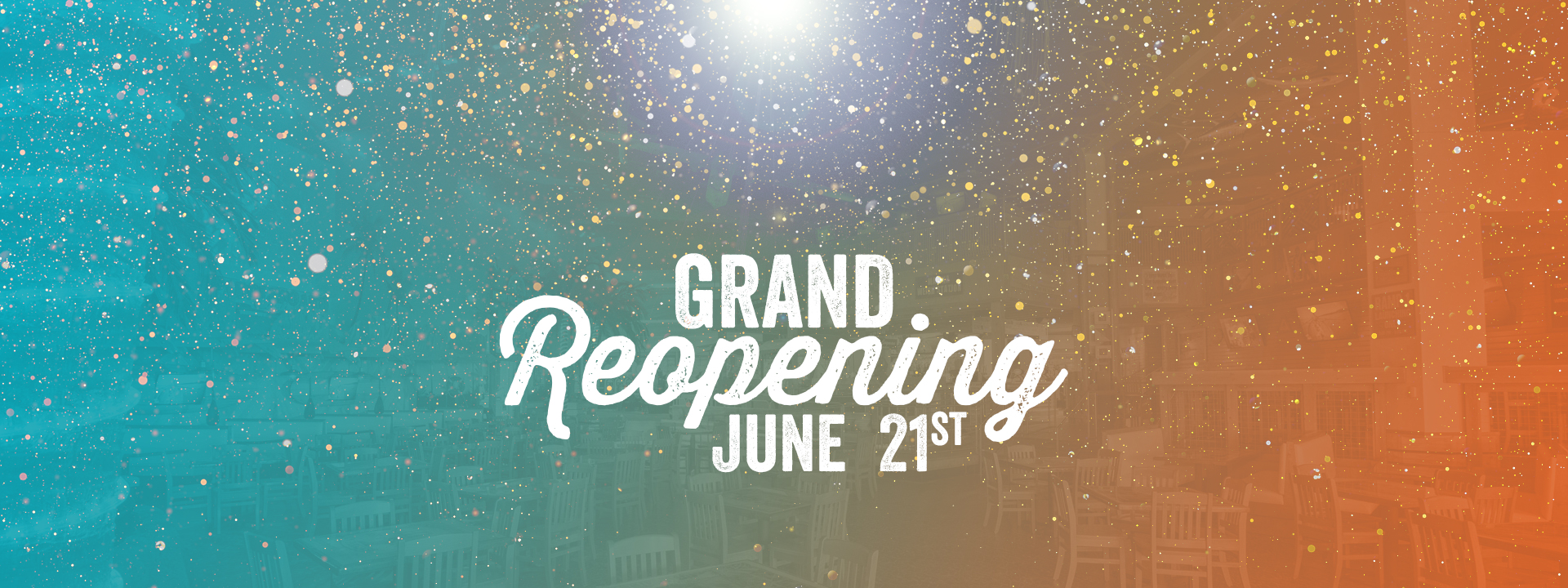 Text on image: Grand reopening June 21