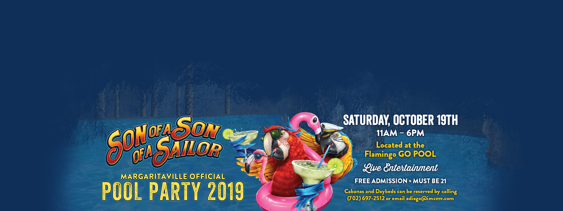 Son of a Son of a Sailor Margaritaville Official Pool Party 2019