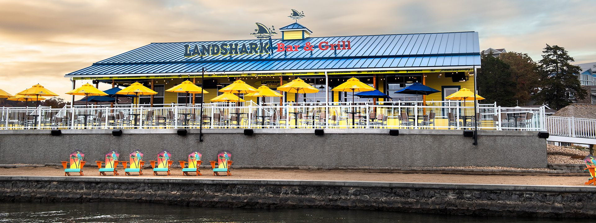 Imae of the LandShark Exterior with seating area