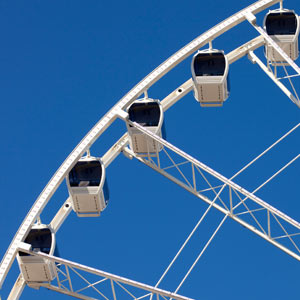 ferris wheel with cabins