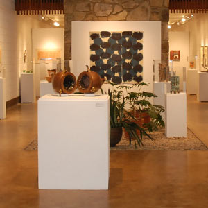 museum interior with exhibits