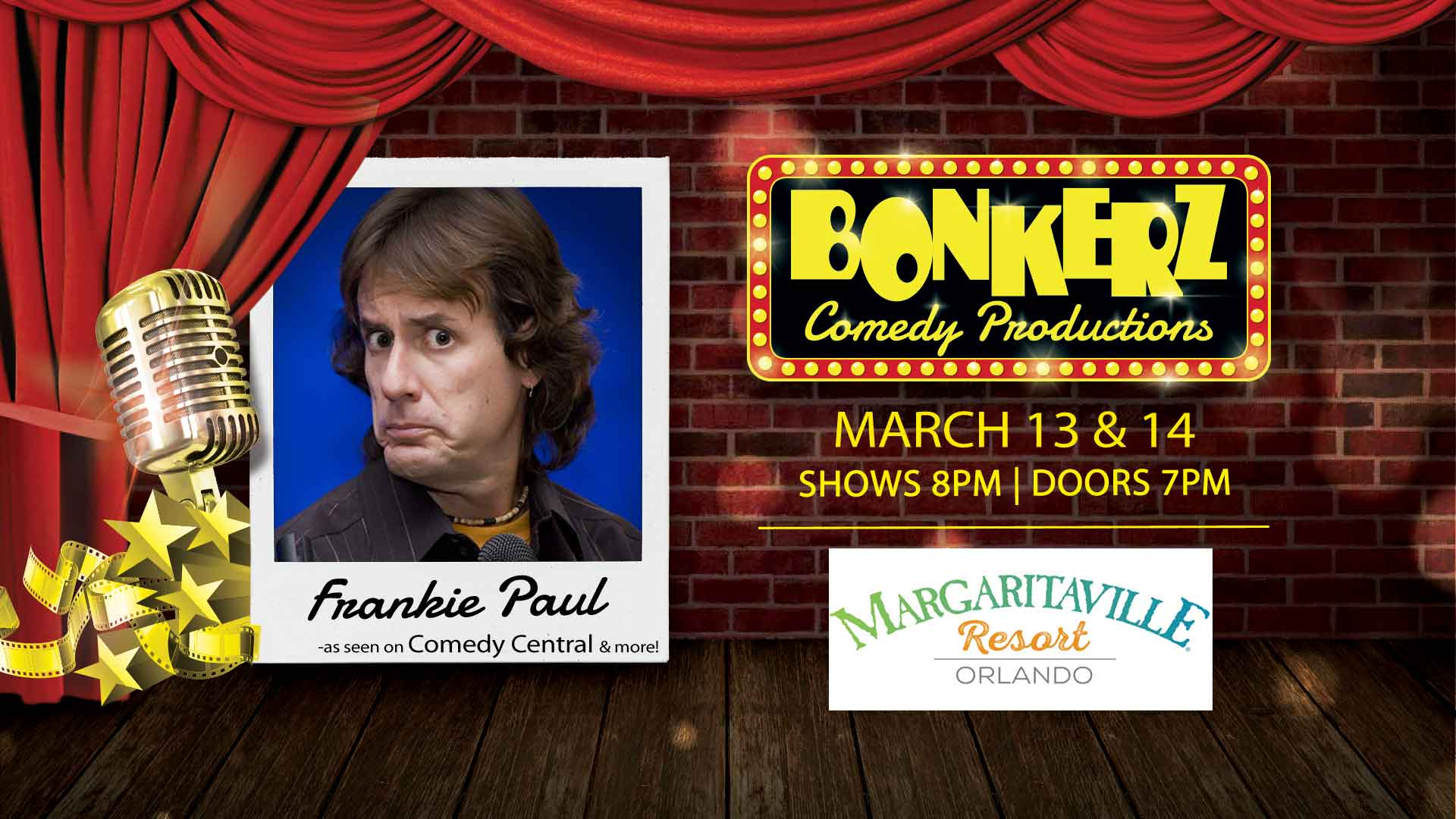 Frankie Paul at Bonkerz Comedy Club