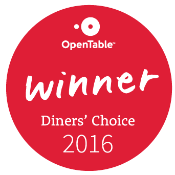OpenTable Diner's Choice Winner of 2016